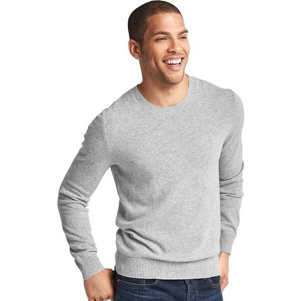 558eb9f012a8 Gap Men Cashmere Crew Sweater ( 148) ❤ liked on Polyvore featuring ...