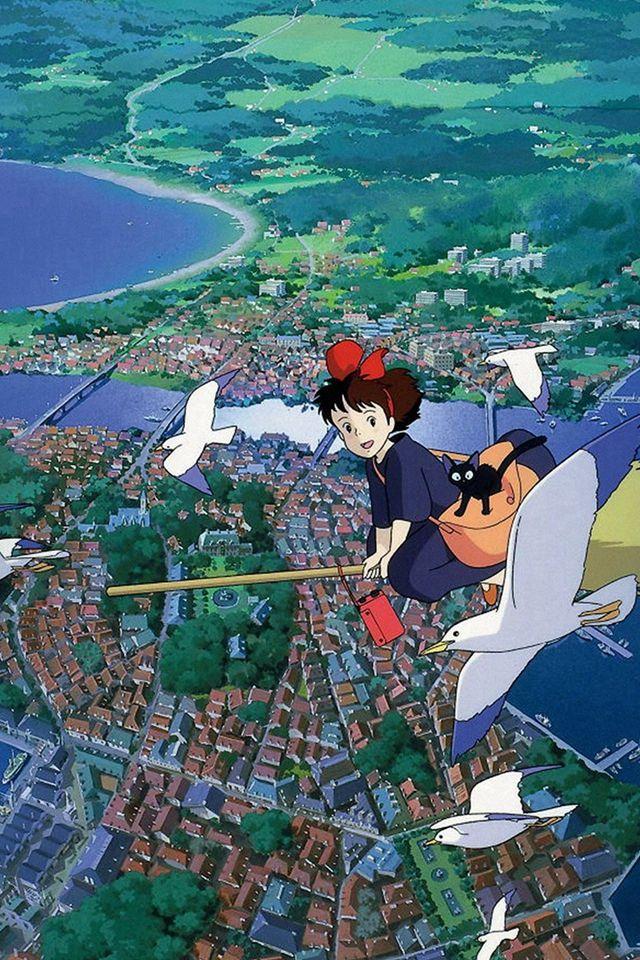 Studio Ghibli Art Illustration Love Anime iPhone 4s