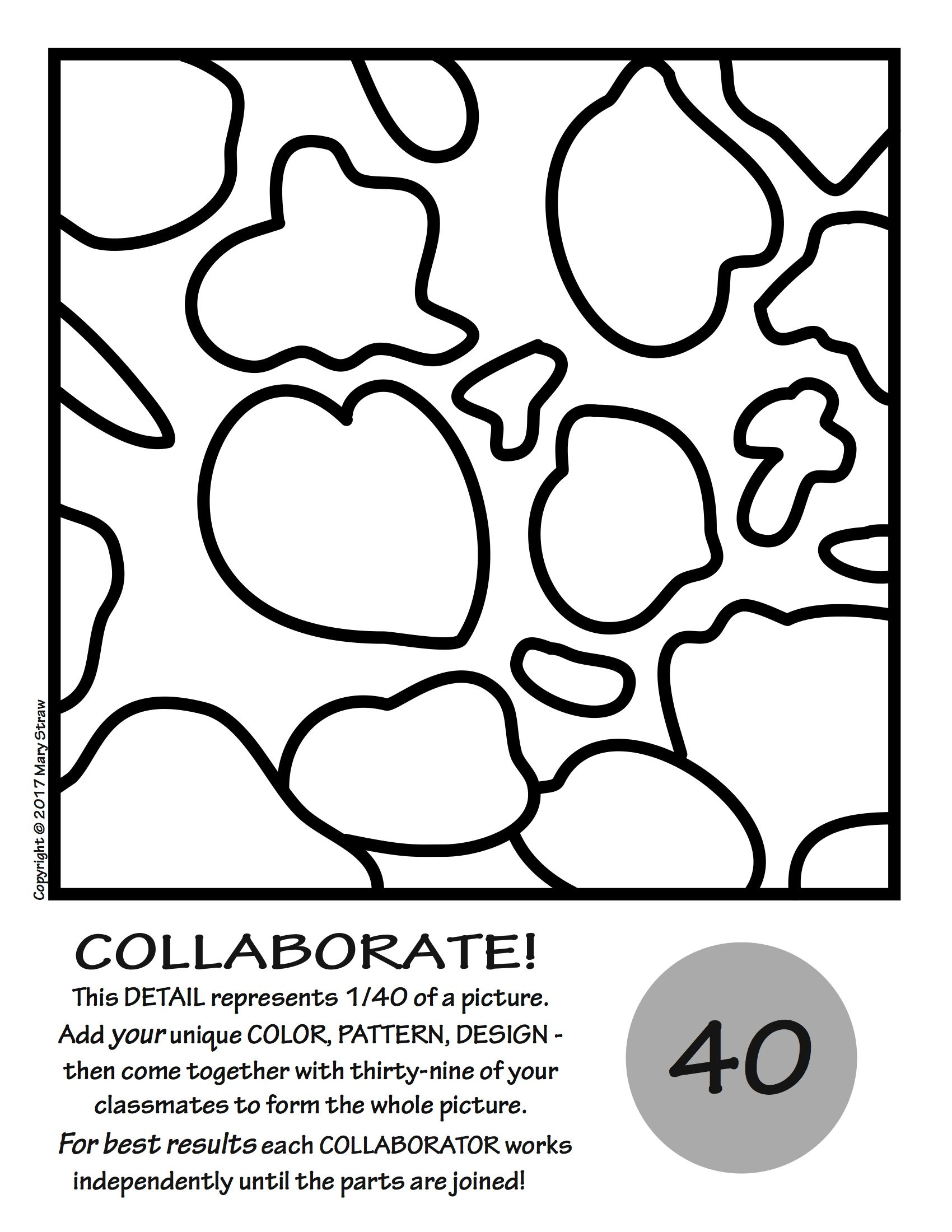 Goldfish By Matisse COLLABORATIVE Activity Coloring
