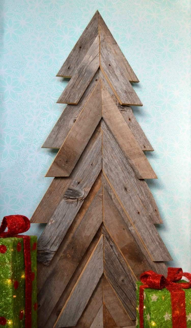 weihnachtsdeko aus holz basteln ein ersatz fr den tannenbaum - Holzbasteln