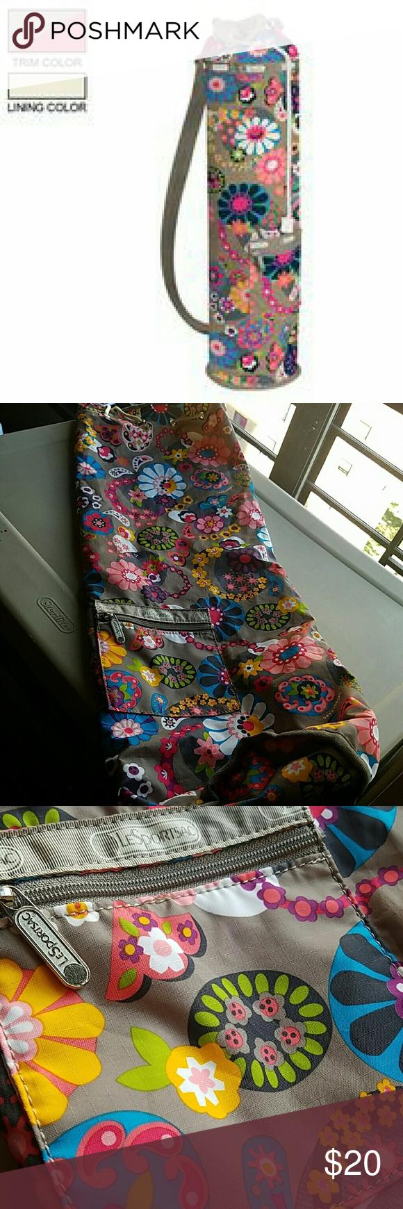 Lesportsac Asana Yoga Mat Bag Adjule Shoulder Strap Drawstring Closure At Top 27 H X 7 L D Bags Travel