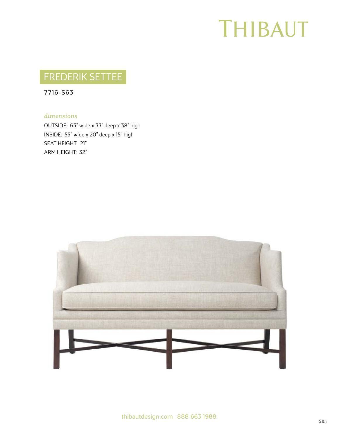 Thibaut Fine Furniture The Frederik Settee