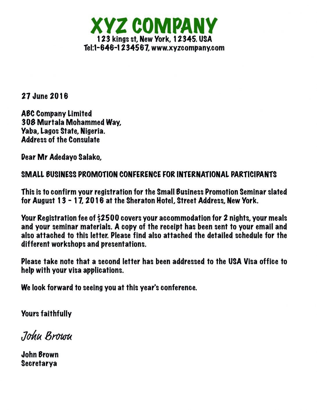 The charming Format Of Business Invitation Letter Sample