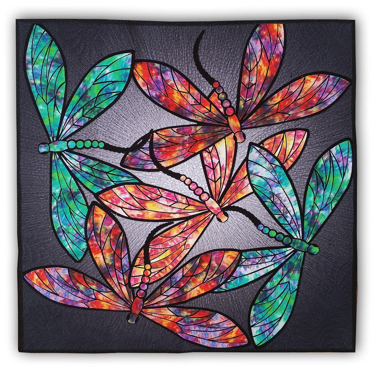 Dance of the Dragonflies Quilt Kit & Optional Swarovski Hotfix ... : dragonfly quilt - Adamdwight.com