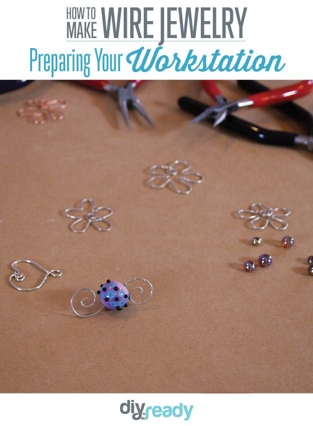 Tips and Tricks in Jewelry Making - Jewelry projects, Jewelry making, Diy jewelry, Craft videos, Wire jewelry, Crafts - Beginner Wire jewelry tips & tricks  Prepare your work station beforehand for smooth sailing  Watch our DIY video wire wrapping tutorials for craft ideas