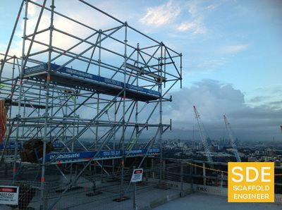 Swing Stage Structure Designed By Scaffold Engineer