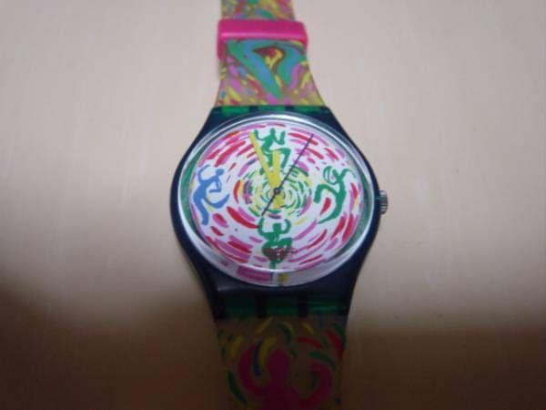 アンティークSWATCHSWISSの人のシルエットデザインの腕時計/2000円 〆02月15日