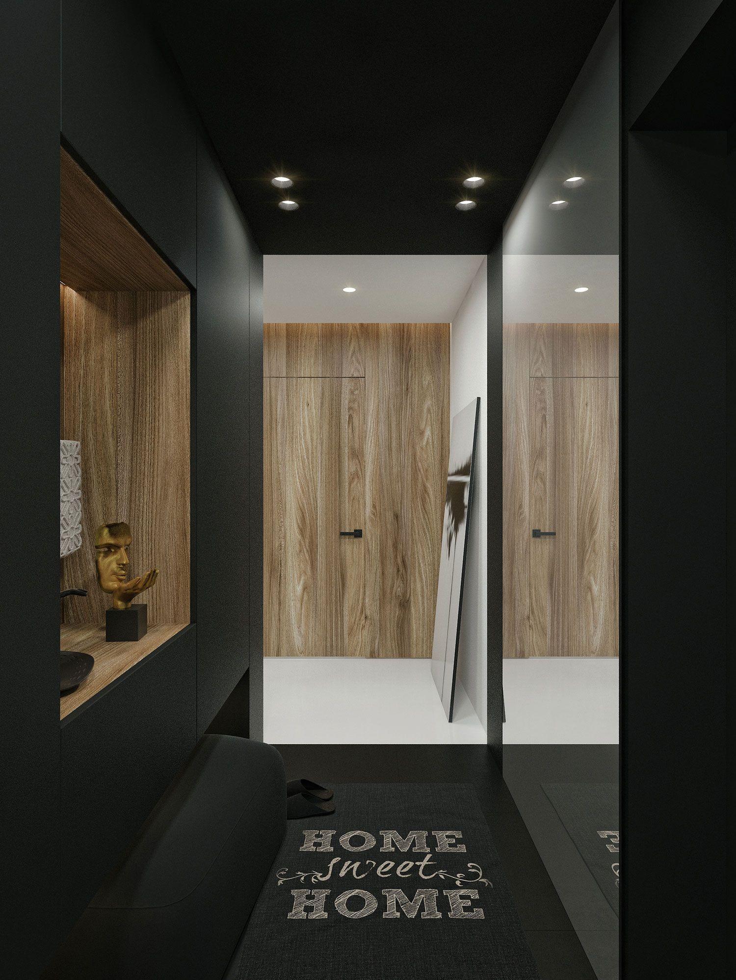 Idwhite designs a tiny contemporary apartment in kaunas lithuania