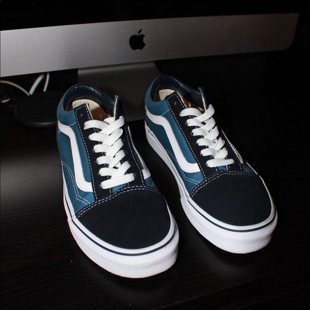 Vans Shoes | Old Skool Navy Vans | Color: Blue | Size: 6