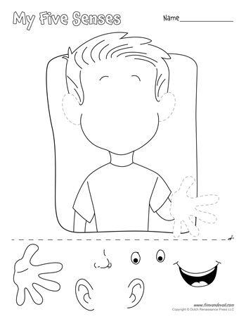 Resultado de imagen de 5 Senses Preschool Printables 3ro