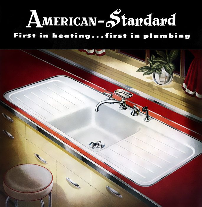 1949 American Standard Sink With Hudee Ring The Toilet In The