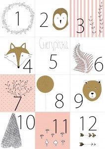 Calendrier de l 39 avent calendrier de l 39 avant pinterest - Etiquette calendrier de l avent ...