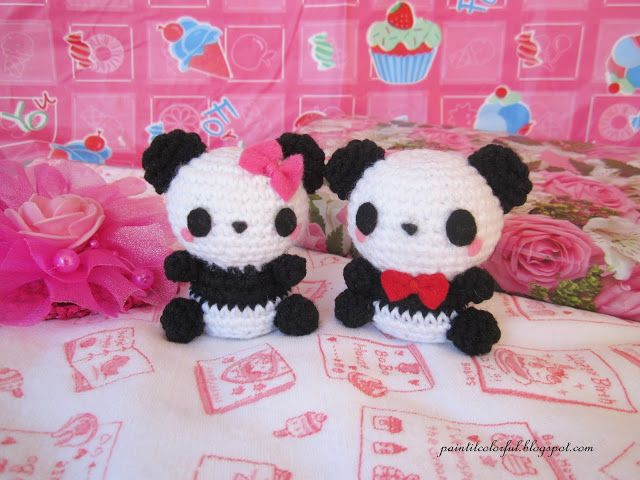 Pineapple Panda crochet pattern - Amigurumi Today | 480x640