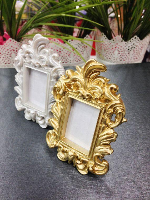 10PCS Ornate Table Number Wedding Place Card Holder Ornate Gold ...
