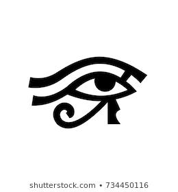 Horus Eye Wadjet Eye Of Ra Antique Egyptian Hieroglyphic Mystical Sign Egyptian Hieroglyphics Eye Of Ra Hieroglyphics