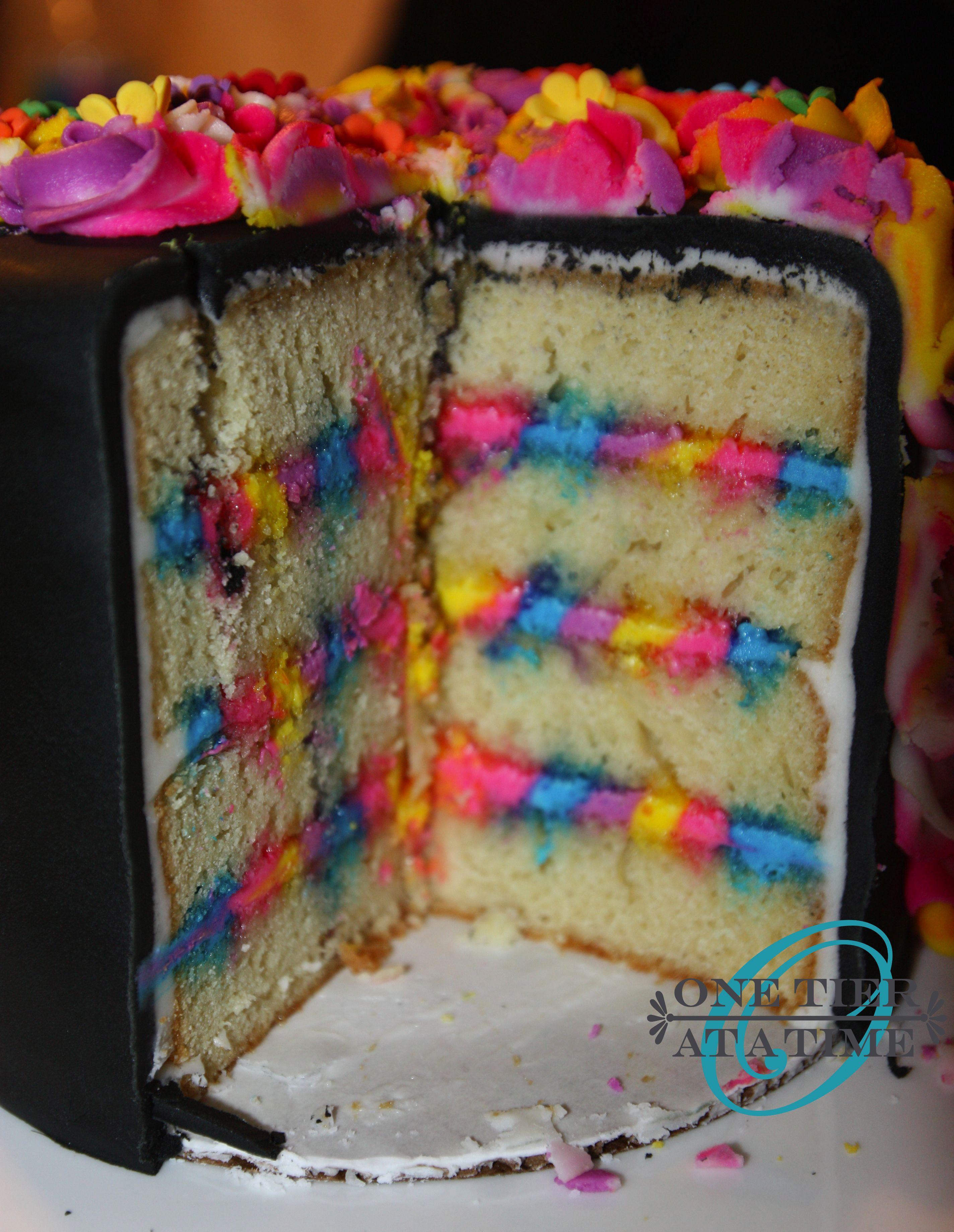 Black Unicorn Cake With Rainbow Icing Cake Cake Cake In 2018