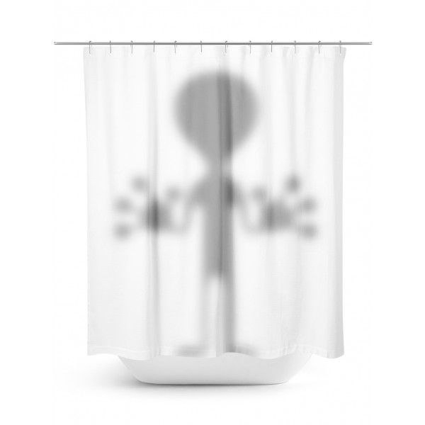 Just Visiting Alien Shower Curtain Fabric Shower Curtains
