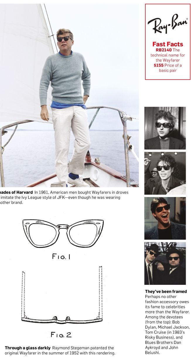 0ba31371abaa Ray-Ban Wayfarer sunglasses have graced celebrity noses for 60 years |  Adweek