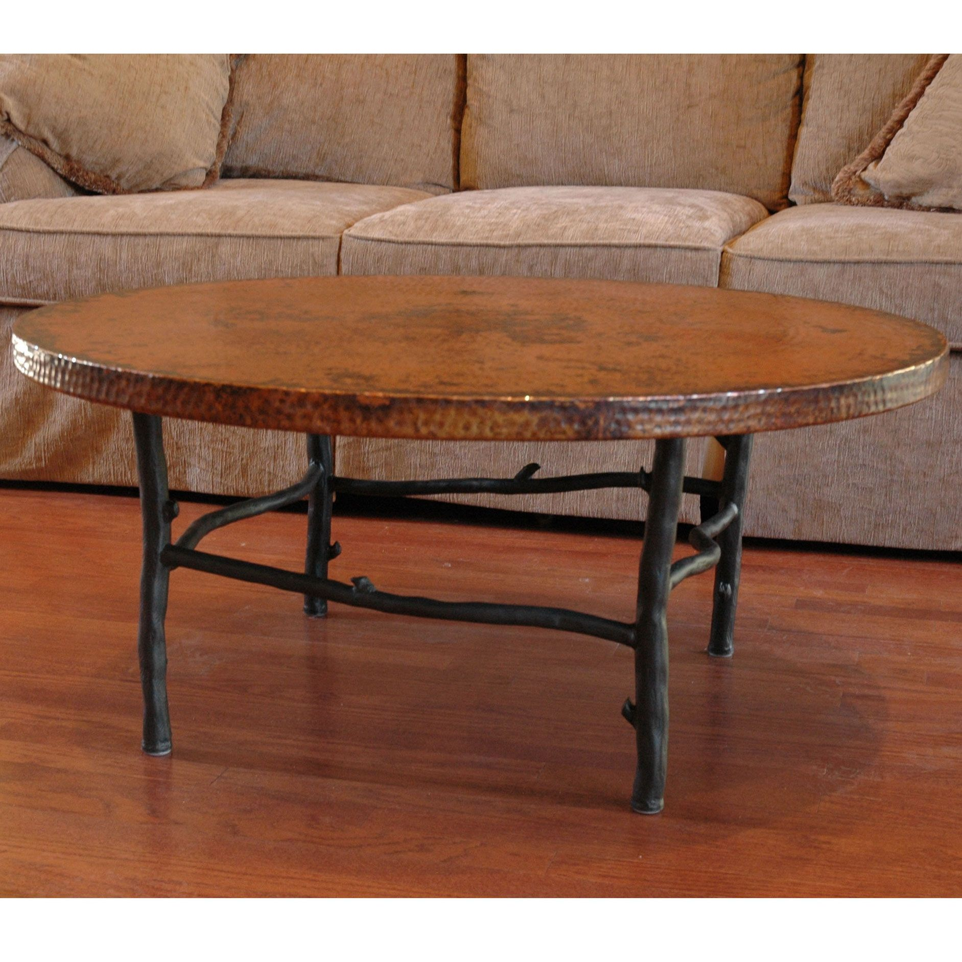 - Rustic South Fork Wrought Iron Coffee Table 42inches Round Iron