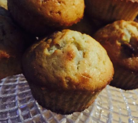 Muffins banane/chocolat blanc