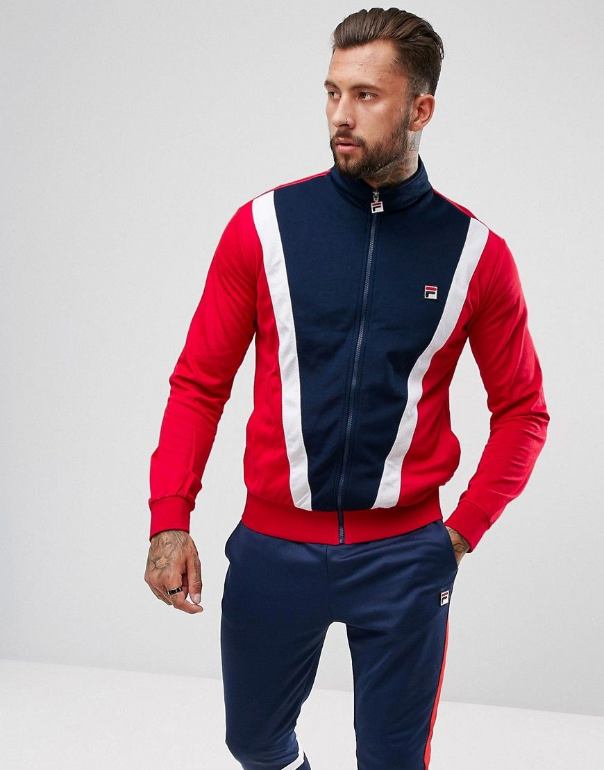 224b349a Fila Vintage Track Jacket With Front Panel - Navy | TT in 2019 ...
