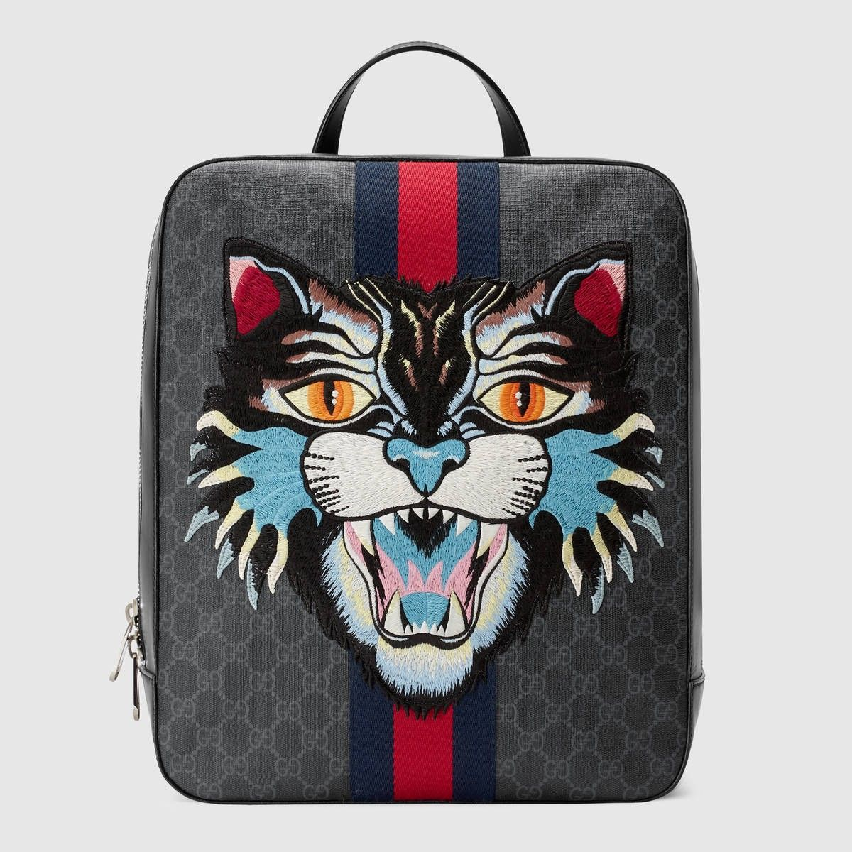 e1dc50721f9f GUCCI Gg Supreme Backpack With Angry Cat - Gg Supreme. #gucci #bags #canvas  #leather #lining #linen #backpacks #cotton #