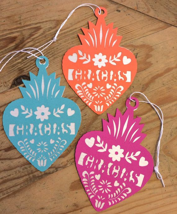 Mexican Fiesta Gracias Gift Tags Thank You By Lulaflora Put These On The Welcome