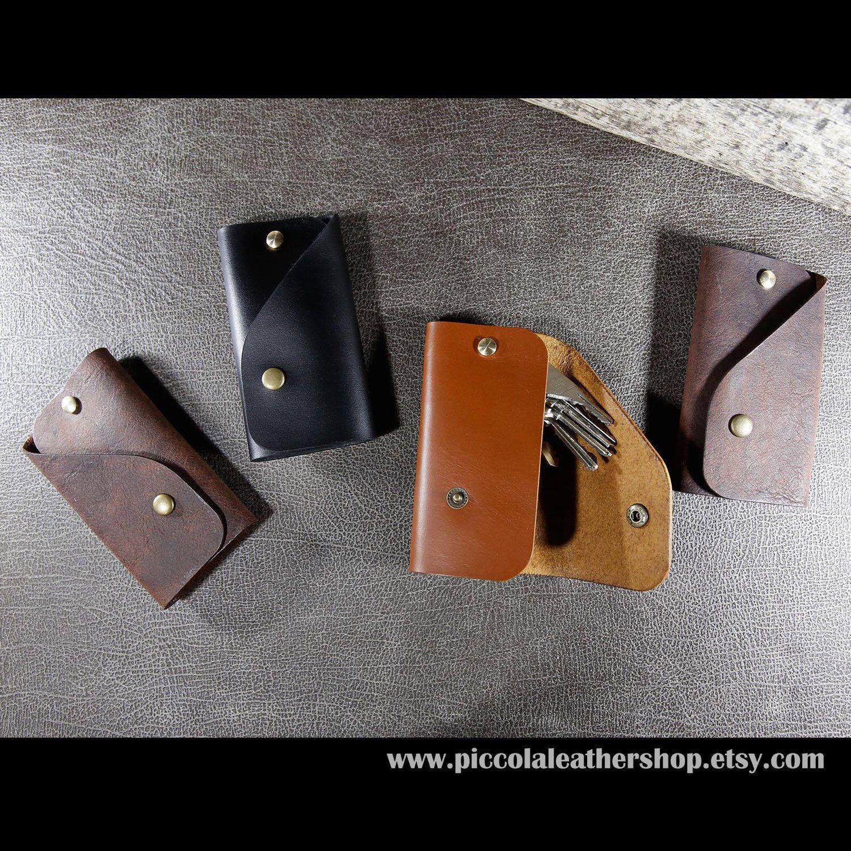 Handmade Genuine Leather Multiple Key Ring Key Chain Holder Key Organizer Fob Key Case Leather Key Holder Keys Organizer Car Keycha Leather Key Holder Sewing Leather Leather Key