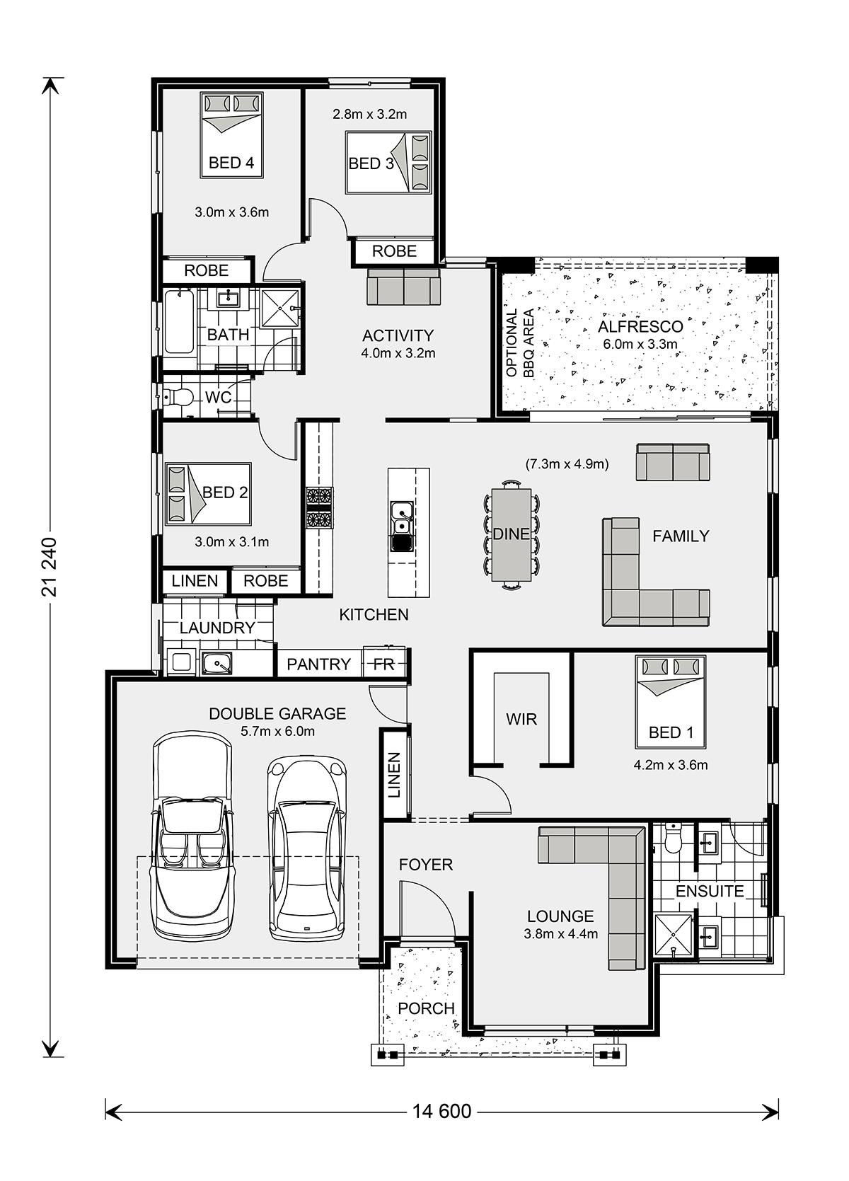 Vista 285 Home Designs In G J Gardner Homes Floor Plans House Floor Plans Display Homes