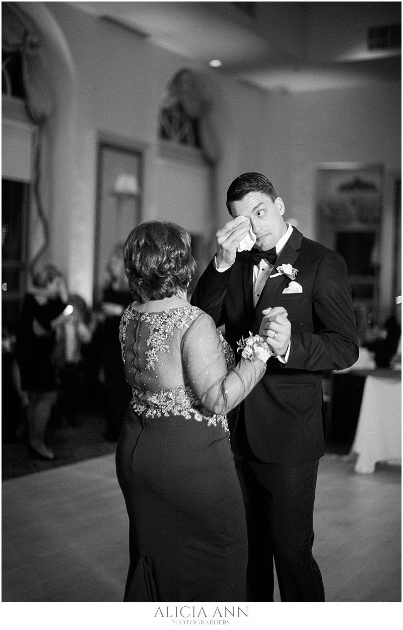 Mother and son emotional wedding dance