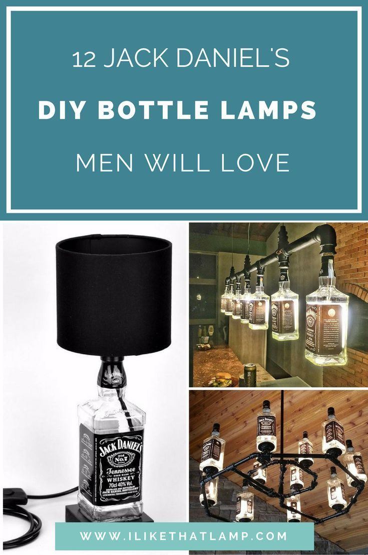 DIY Man Cave Lighting Ideas: Jack Daniel's Whiskey Bottle Lamps images