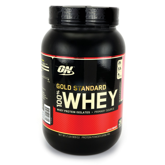 Optimum Nutrition 100% Whey Protein Delicious Strawberry 2 lbs Pwdr - Swanson Health Products