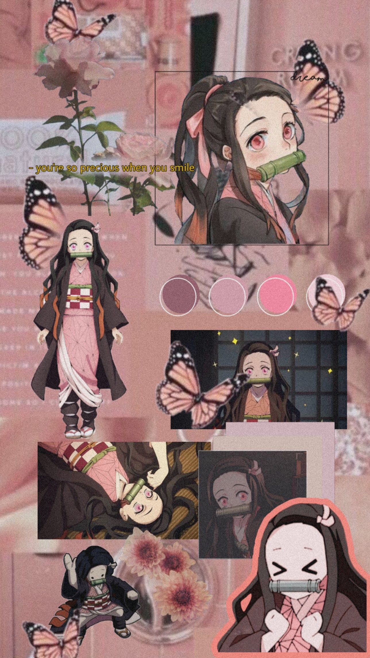 Nezuko Demon Slayer Kimetsu No Yaiba Anime Wallpaper Phone Pink Wallpaper Anime Anime Wallpaper Live