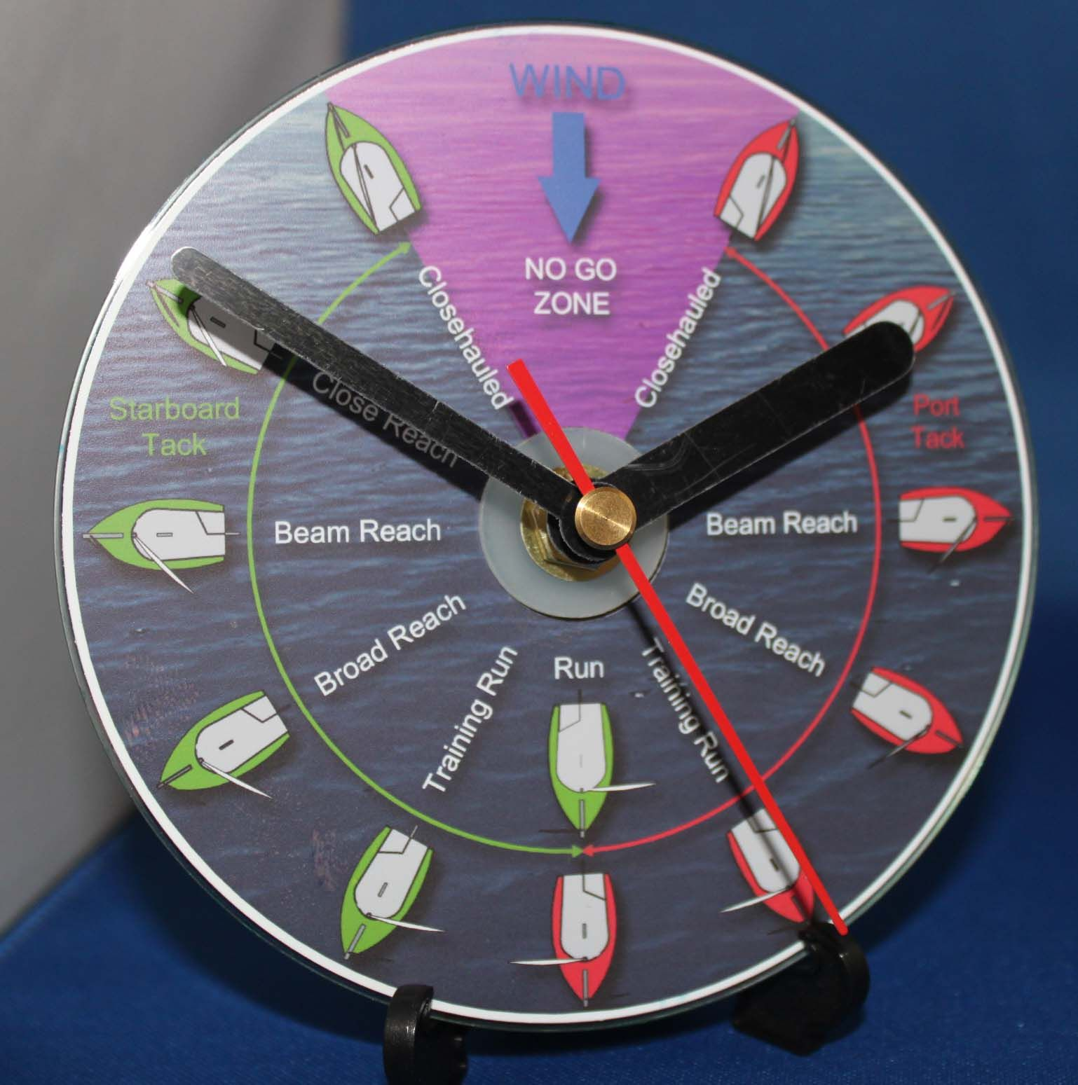 This Clock Is Based On A Sailing Training Diagram  And