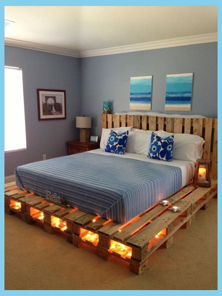 Diy Bedroom Furniture Diy Bed Frame Ideas Diy Pallet Bed Diy Pallet Furniture Wood Pallet Furniture