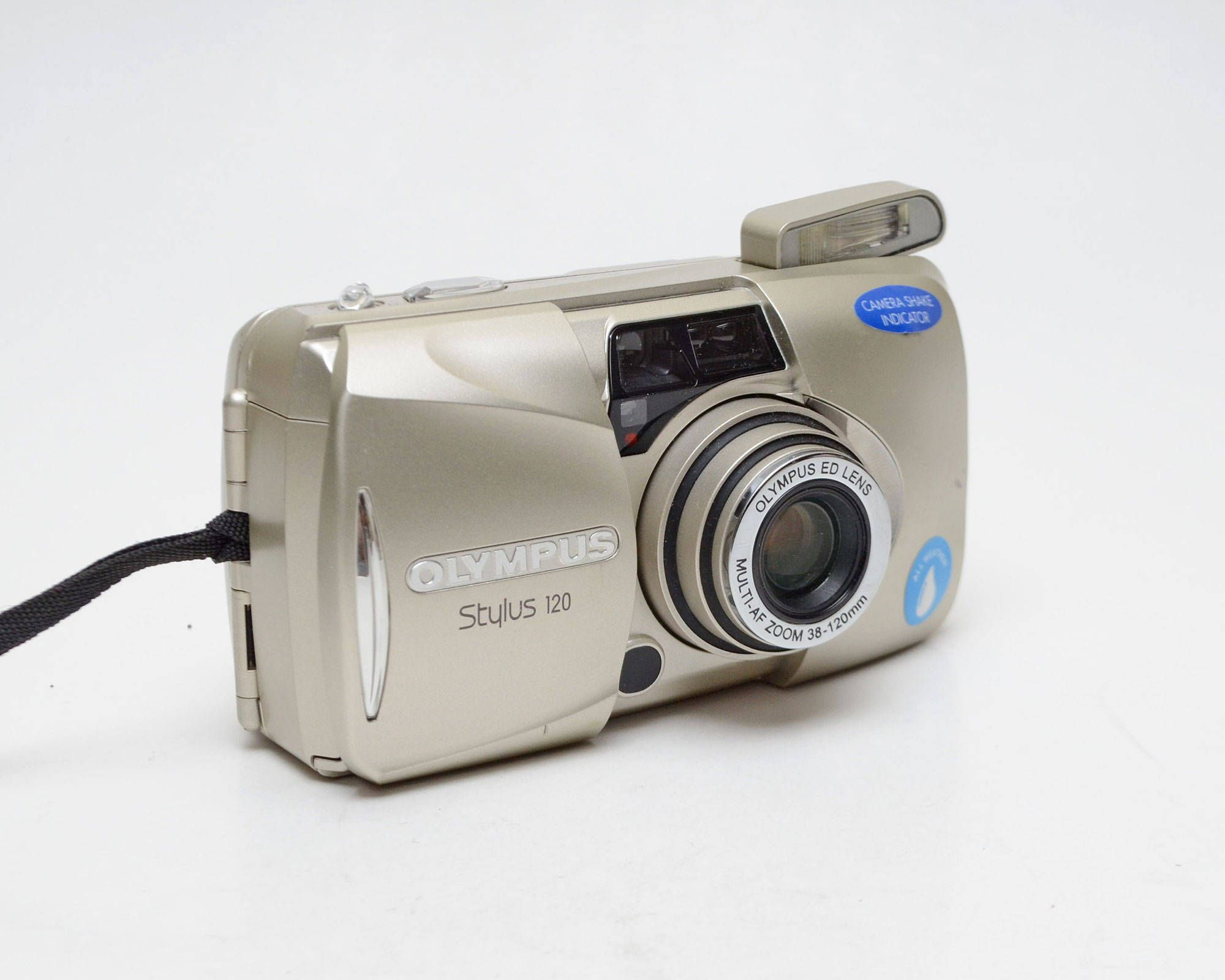 Canon Sure Shot Classic 120 lens: 38 mm black Point /& Shoot // Zoom camera 35mm 120 mm silver