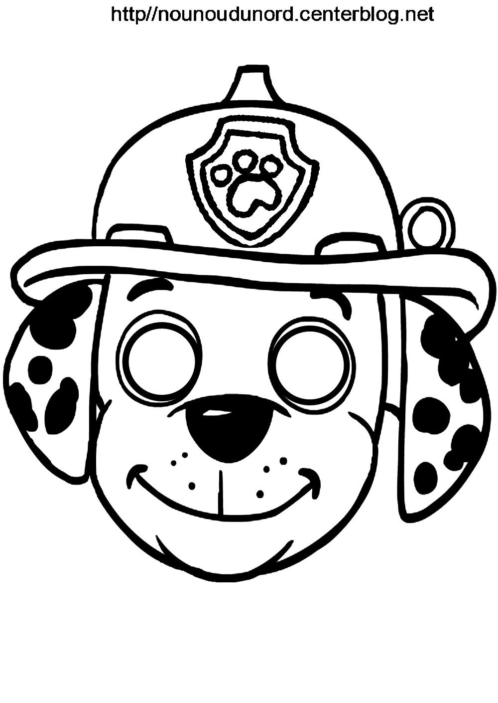Masques imprimer class s par ordre alphab tique kids and parenting paw patrol masks - Coloriage masque a imprimer ...