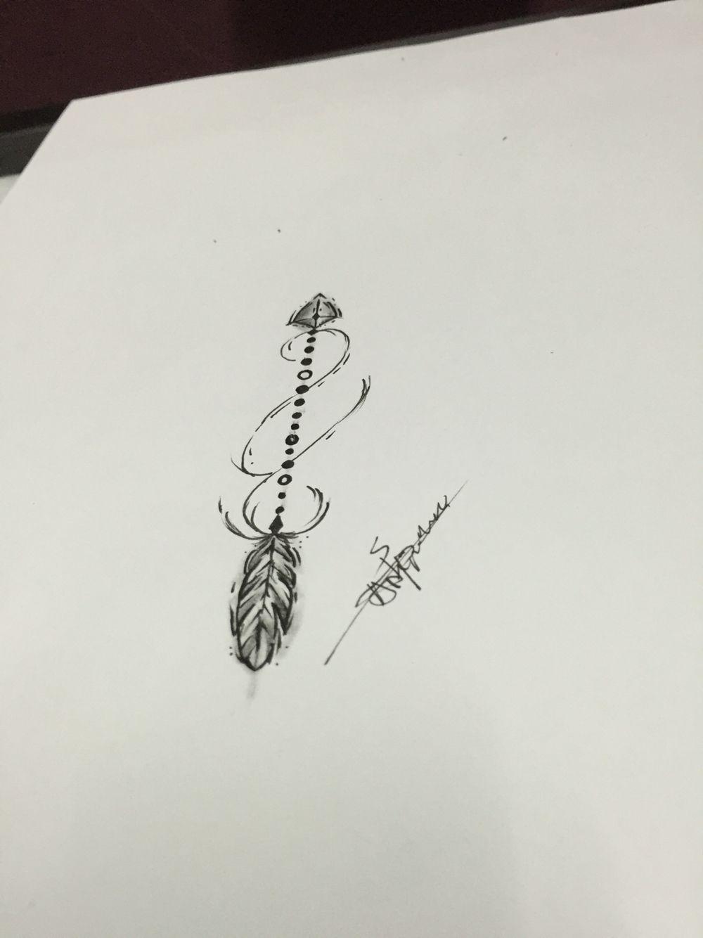 aeb679df693bb Abstract arrow tattoo design | Drawings | Arrow tattoo design, Arrow ...