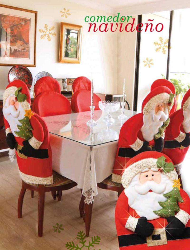 Comedor navide o navidad navidad silla de navidad y - Adornos navidenos para sillas ...