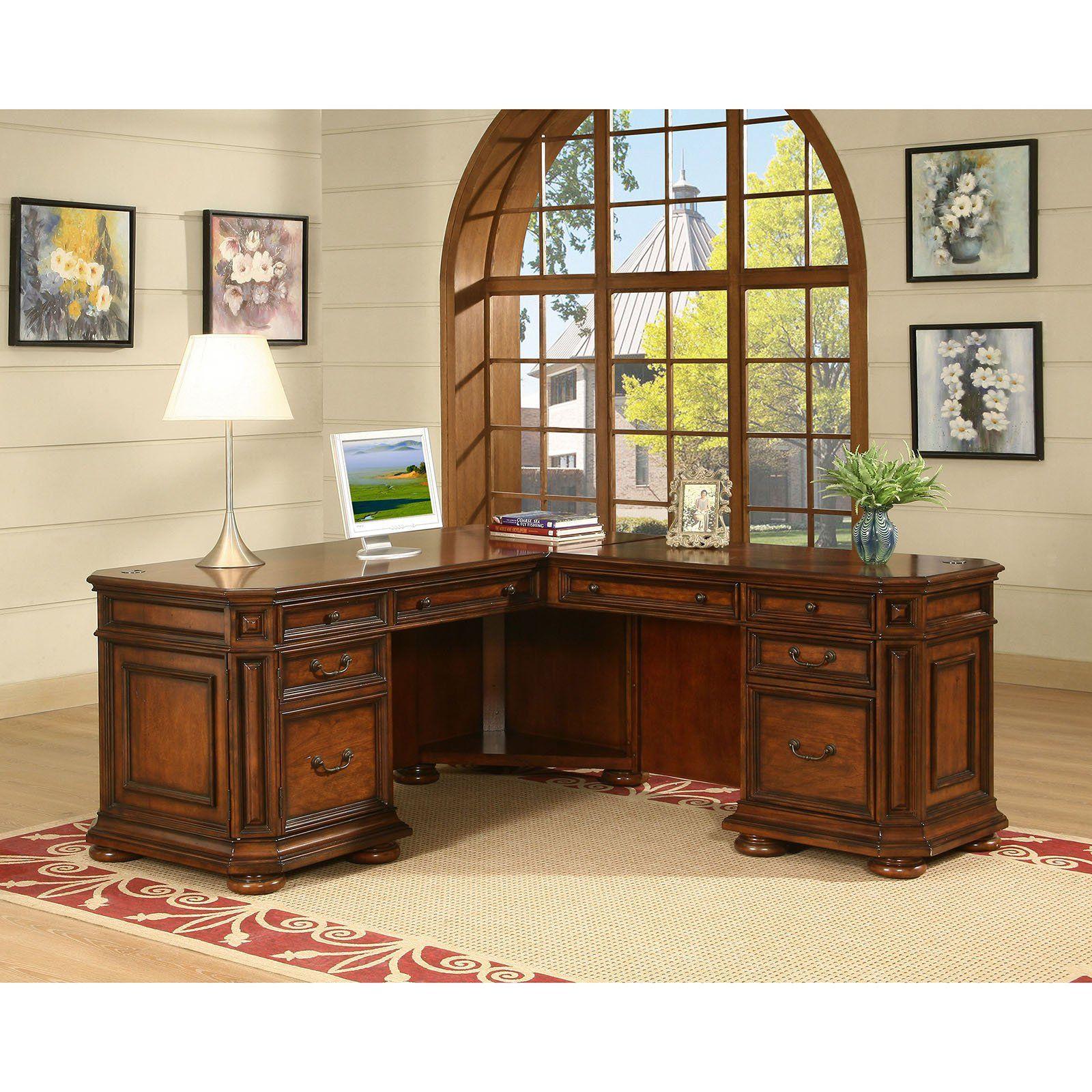 Riverside Cantata Executive L Shaped Computer Desk 4928