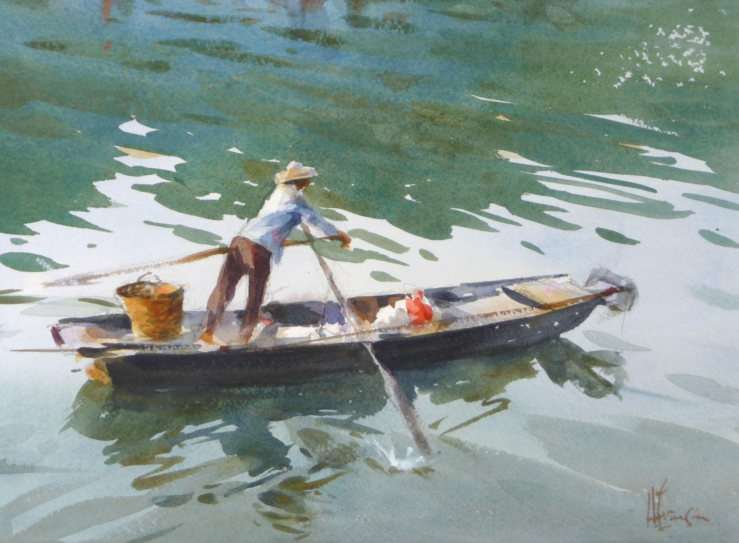 Watercolor artist magazine palm coast fl - Watercolor Artist Andy Evansen Navigating The Pearl