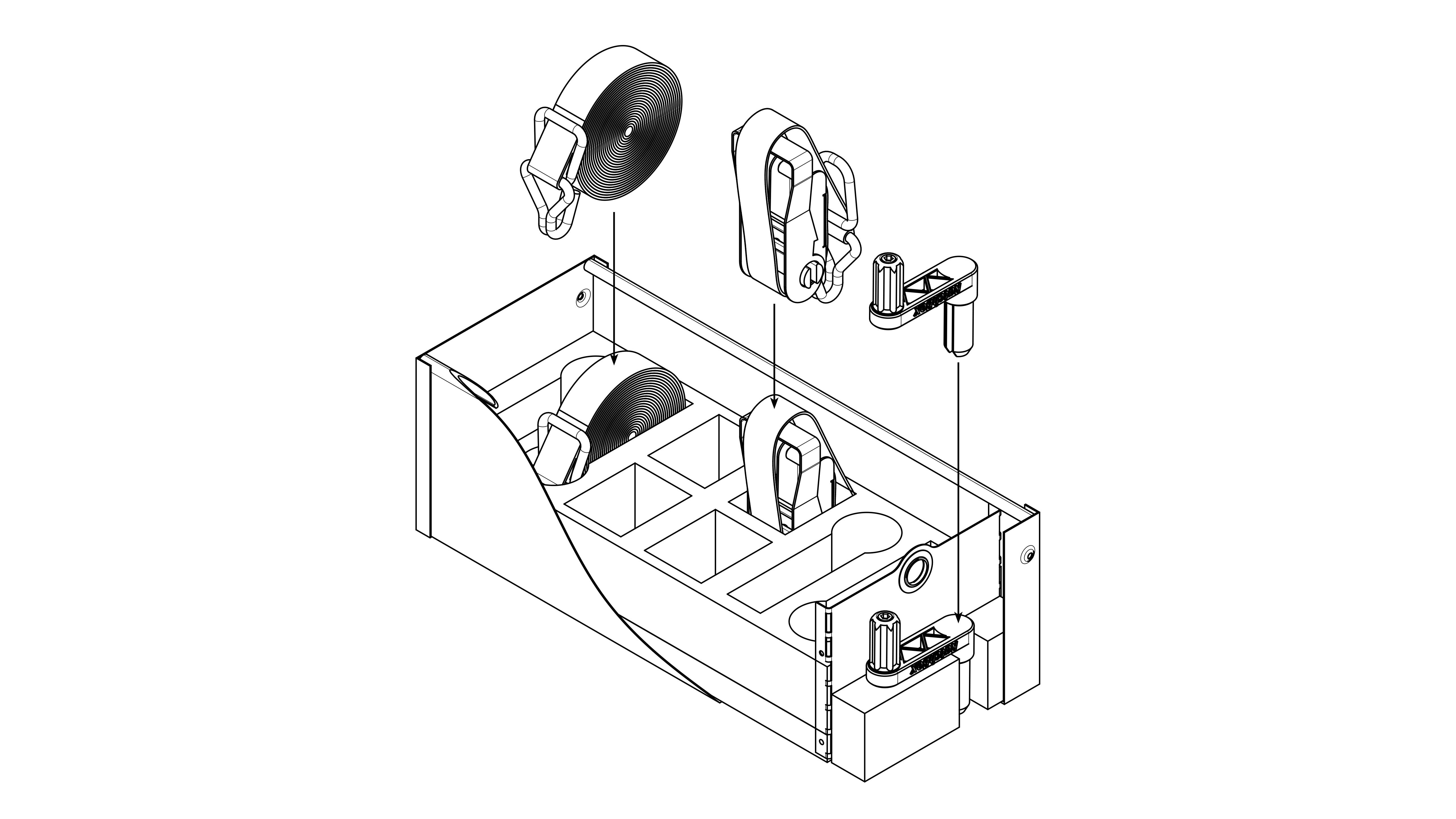 Ratchet Strap Tie Down Storage Design