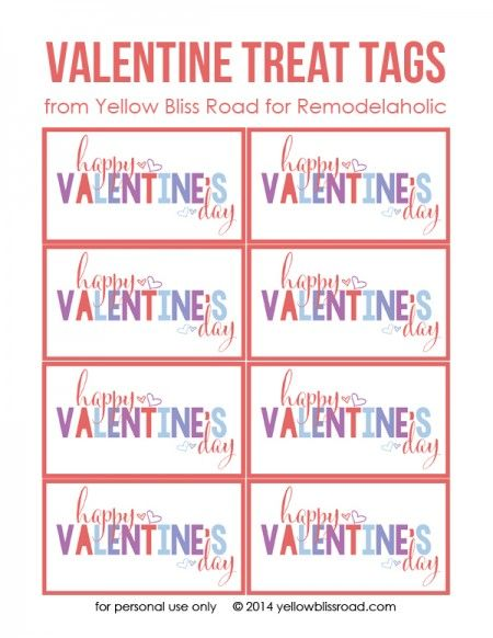 image relating to Valentine's Day Tags Printable named Pin upon Most straightforward of Pinterest