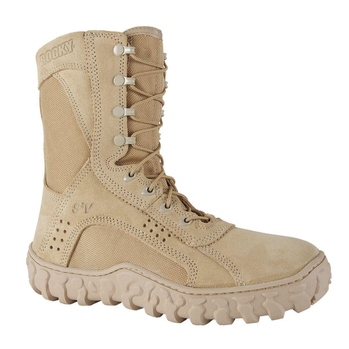 Rocky S2V Mens Desert Tan Leather 8.5in