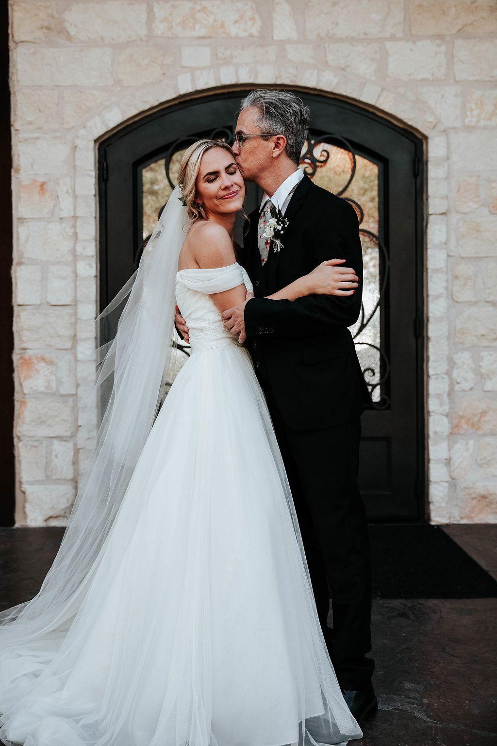 father of the bride + bride wedding photos photos of