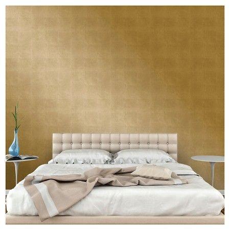 Metallic Leaf Peel Stick Wallpaper Gold Project 62 Peel And Stick Wallpaper Metallic Wallpaper Silver Painted Furniture