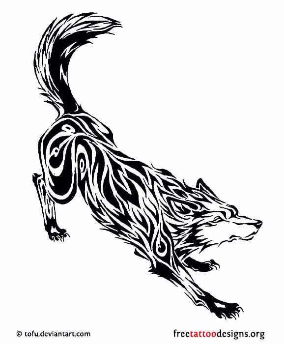 Another Norse Wolf Tribal Tattoos Tribal Wolf Tattoo Wolf Tattoos