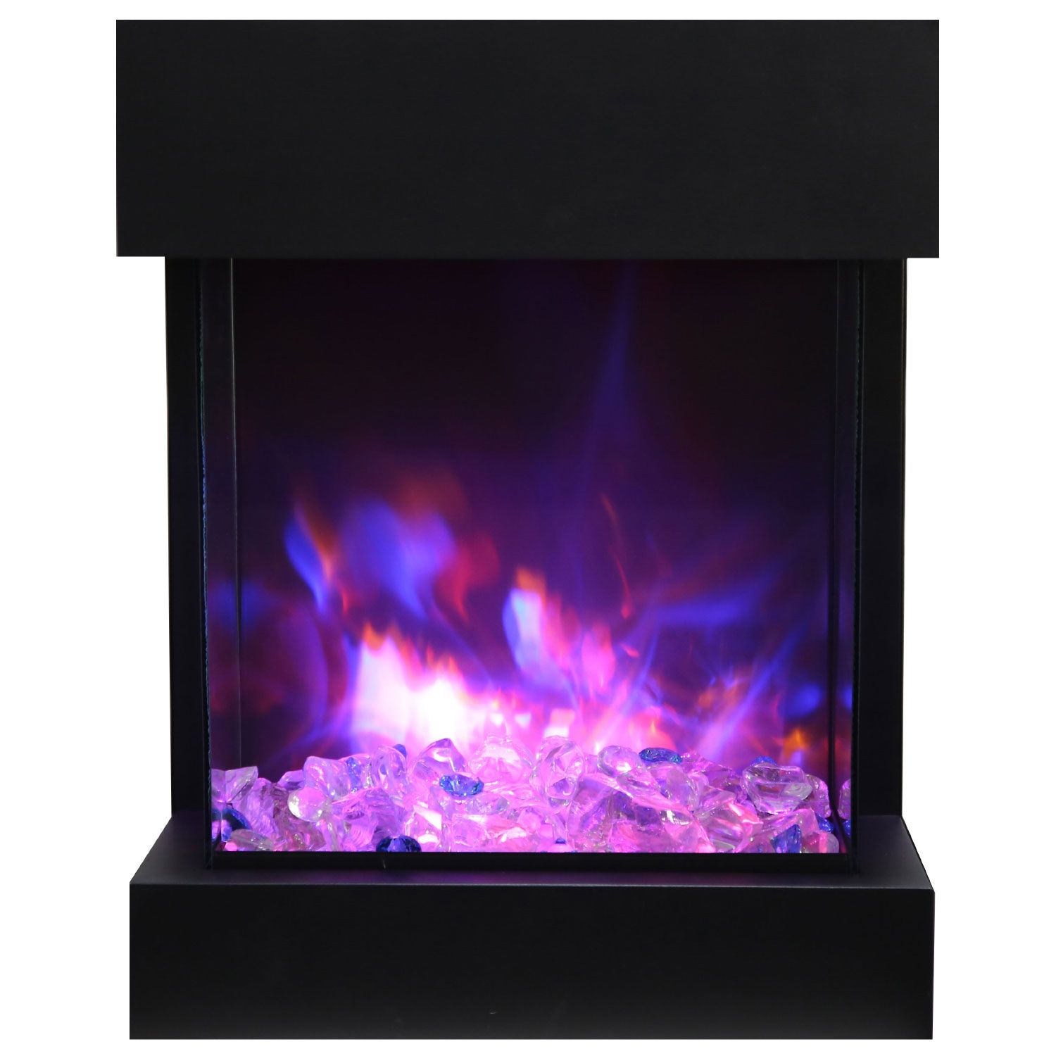 Amantii Cube 2025wm Cube 25 3 Sided Glass Electric Fireplace