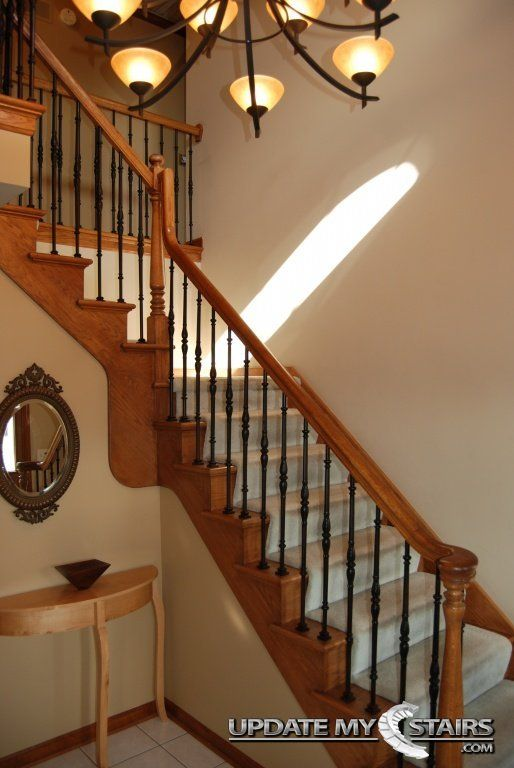 Stunningly Detailed Oil Rubbed Bronze Venetian Style Baers Installed By Update My Stairs Inc