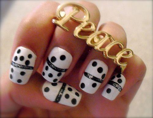 Domino u as con dise o u as pintadas u as y dise os - Disenos de unas pintadas ...